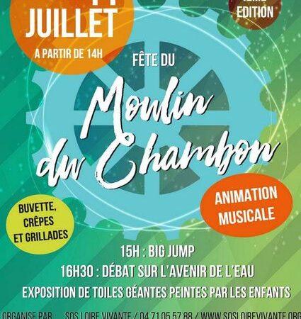 Fête du Moulin du Chambon – Débat