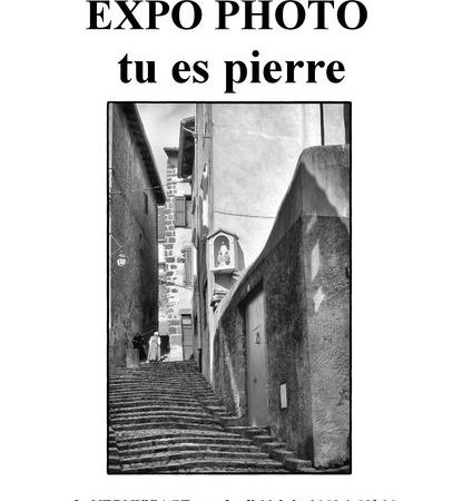 "Exposition photo ""Tu es pierre"""