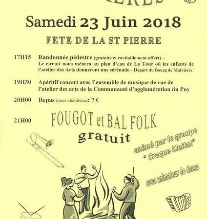 Fête patronale de la Saint Pierre à Malvières