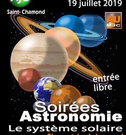 """Soirées Astronomie """"Le système solaire"""""""