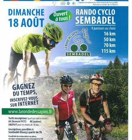 """Rando cyclotouristique """"La Ronde des Sapins"""""""