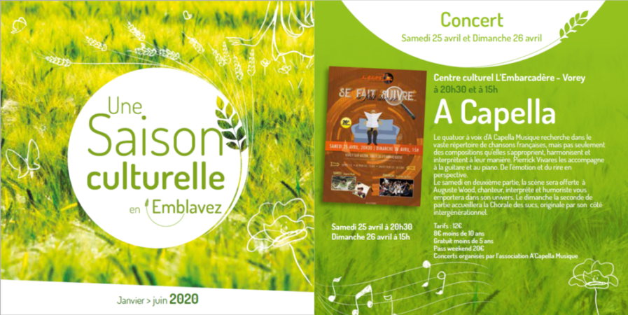 Saison Culturelle : Concert A Capella
