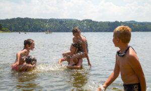 Baignade surveillée au Lac de Lavalette