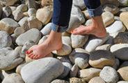 Sentier pieds-nus au jardin