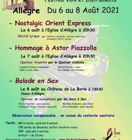 """Festival Les Trois Chaises – """"Voix et instruments"""""""