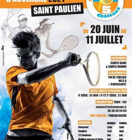 Tennis Tournoi Open des Portes d'Auvergne