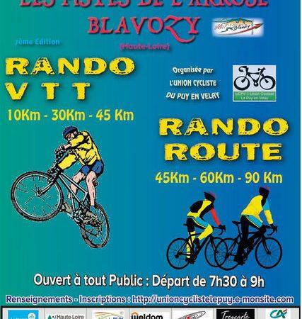 annulé: Les pistes de l'Arkose-loisir: rando VTT et rando route